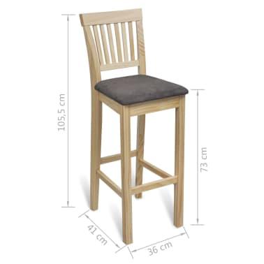vidaXL Bar Chairs 4 pcs Wood[6/6]