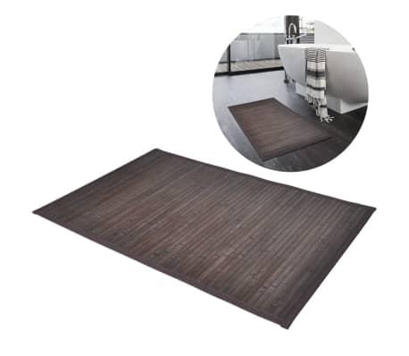 vidaXL Badmatten 4 st 40x50 cm bamboe donkerbruin[4/6]
