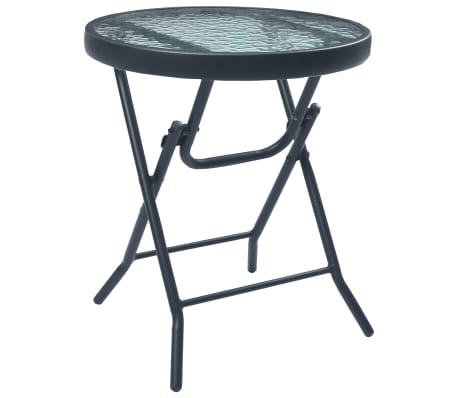 Cette table de bistro pliable a un design élégant et sera un excellent supplément à votre jardin, terrasse ou patio pour les repas en plein air ou simplement pour votre détendre à l'extérieur. Elle est également idéale pour une utilisation en intérieur.