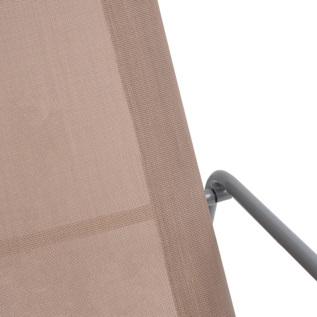 vidaXL Tuinschommelstoel 95x54x85 cm textileen taupe