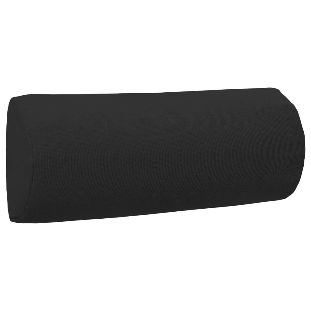 vidaXL Podhlavník na zahradní křeslo černý 40 x 7,5 x 15 cm textilen