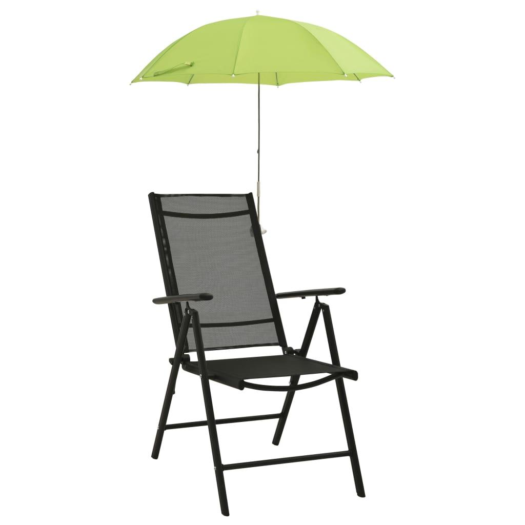 Slunečníky pro kempingové židle 2 ks zelené 105 cm