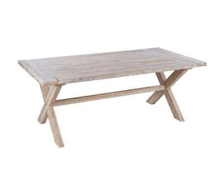 vidaXL Table de salle à manger 200x100x75 cm Bois de teck solide