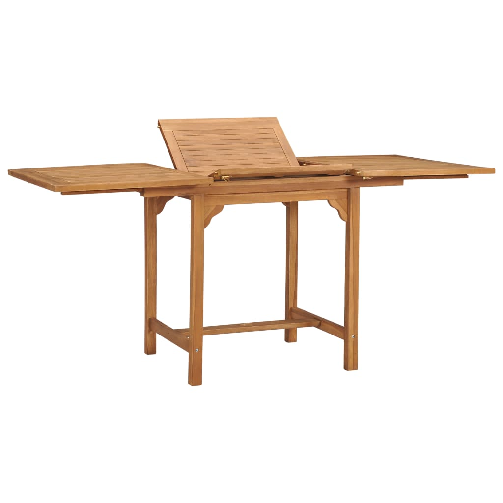 vidaXL Τραπέζι Κήπου Επεκτεινόμενο (110-160)x80x75 εκ. Μασίφ Ξύλο Teak