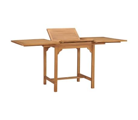 vidaXL Masă de grădină extensibilă (110-160)x80x75cm lemn masiv tec