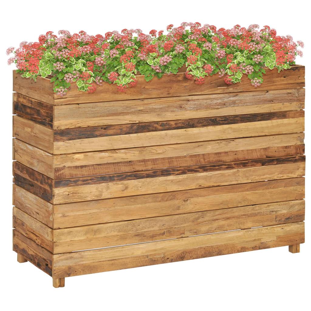 Posuda za sadnju 100x40x72 cm od reciklirane tikovine i čelika