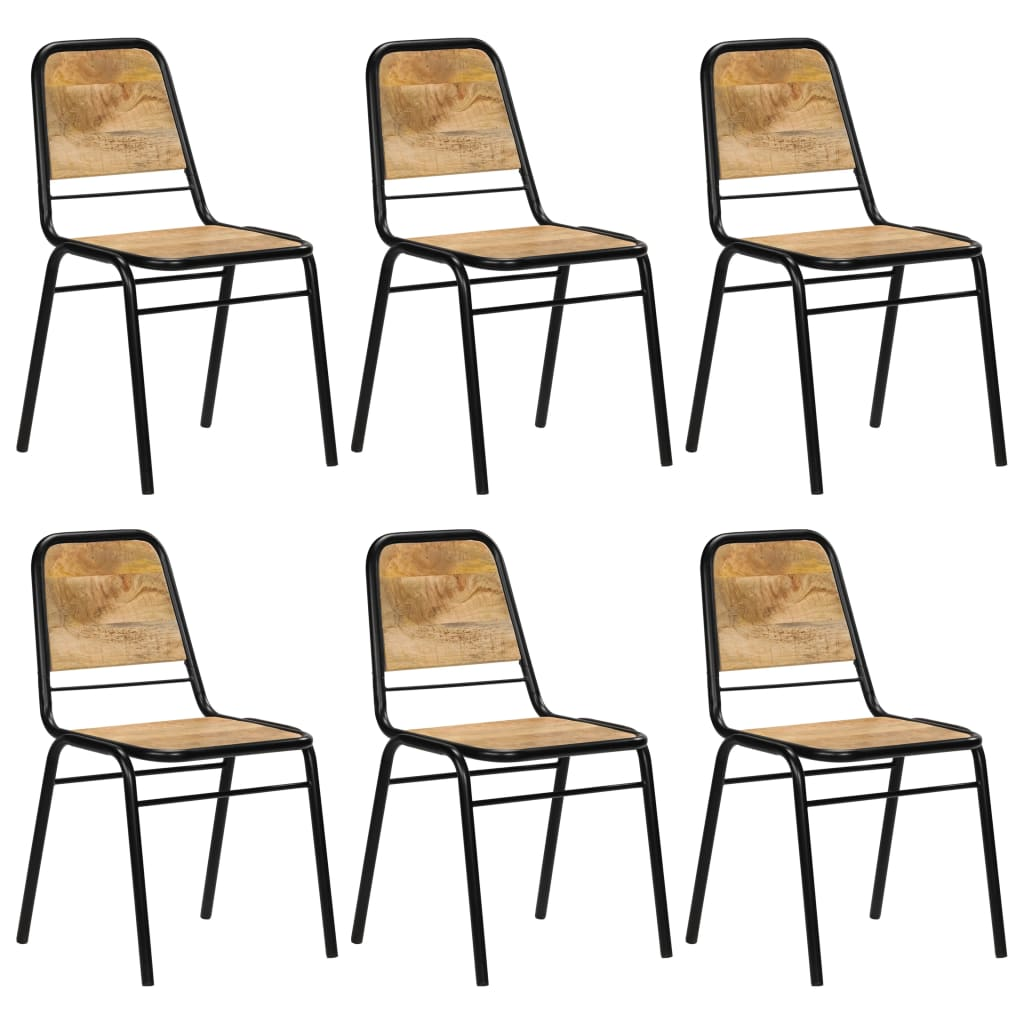 vidaXL Καρέκλες Τραπεζαρίας 6 τεμ. από Μασίφ Ξύλο Μάνγκο