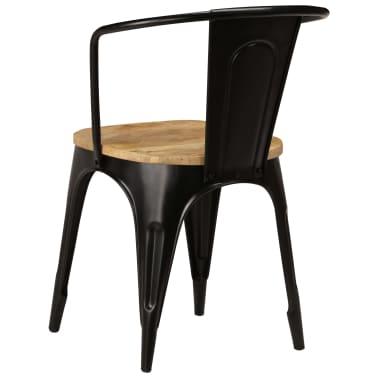 vidaXL Dining Chairs 6 pcs Black Solid Mango Wood[4/13]