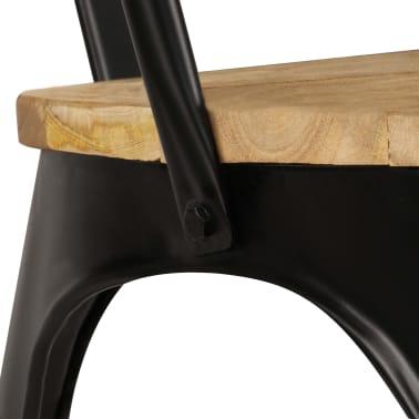 vidaXL Dining Chairs 6 pcs Black Solid Mango Wood[6/13]