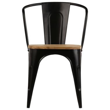 vidaXL Dining Chairs 6 pcs Black Solid Mango Wood[8/13]