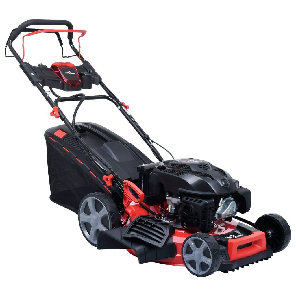 vidaXL Mașină tuns iarba benzină 4-în-1, electric, 51 cm oțel 4,6 CP poza vidaxl.ro