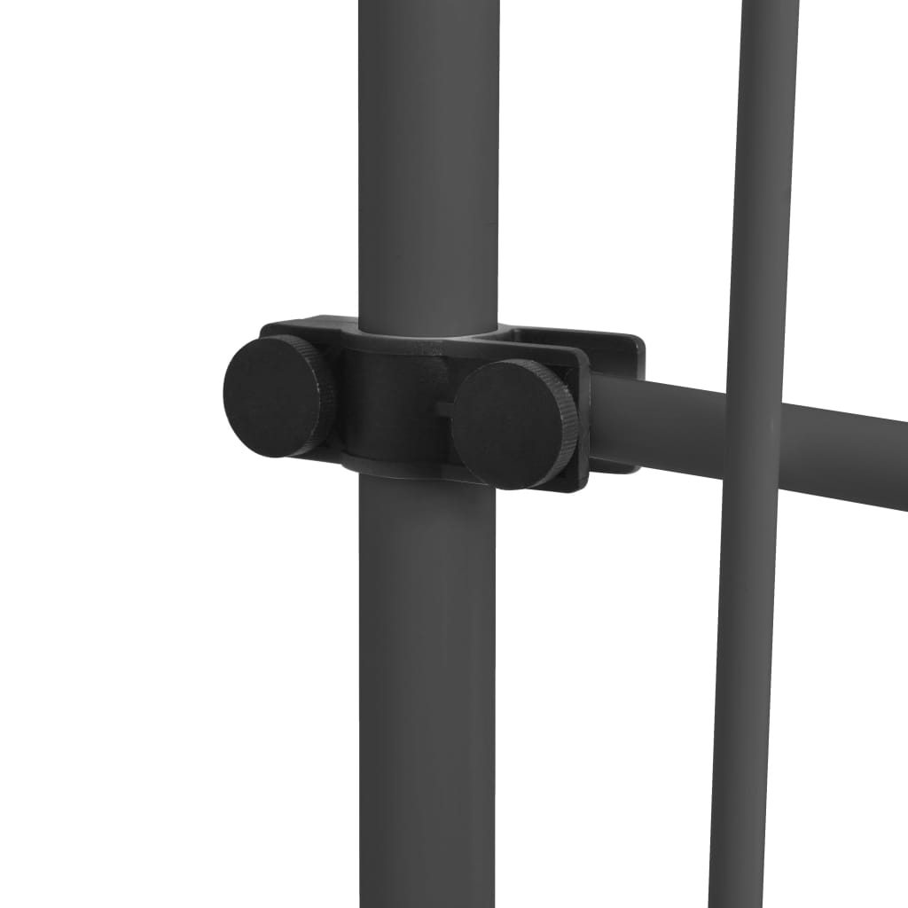 vidaXL Luifel handmatig uittrekbaar met LED 200 cm antraciet