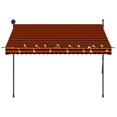 vidaXL Luifel handmatig uittrekbaar met LED 250 cm oranje en bruin[4/7]