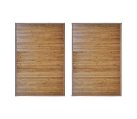 vidaXL Bambusová predložka do kúpeľne 2 ks 60x90 cm hnedá