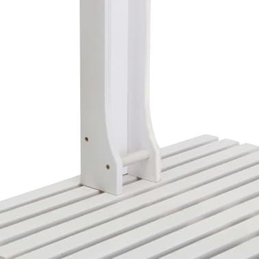 vidaXL Garden Shower White Wood[4/7]