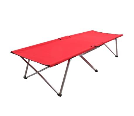 vidaXL Cama de campismo 206x75x45 cm XXL vermelho