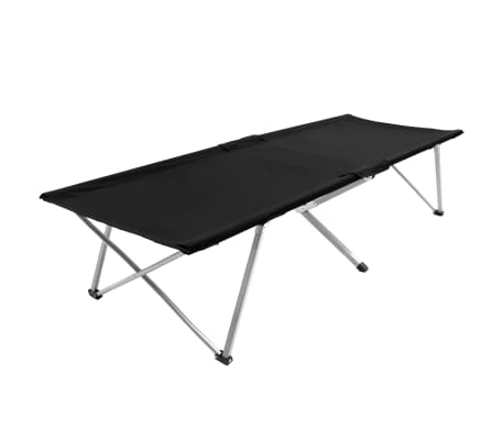 vidaXL Krevet za kampiranje 206 x 75 x 45 cm XXL crni