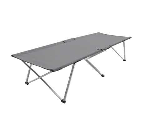 vidaXL Krevet za kampiranje 206 x 75 x 45 cm XXL sivi