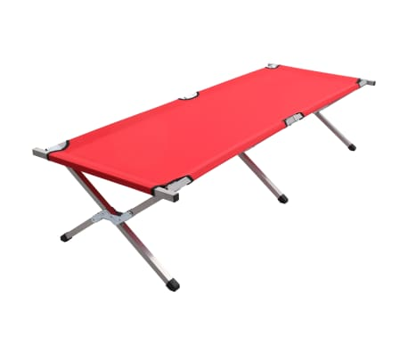 vidaXL Kamp postelja 190x74x47 cm XL rdeča