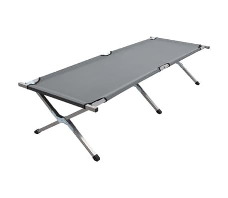 vidaXL Sovyklavimo gultas, pilkos spalvos, 190x74x47cm, XL