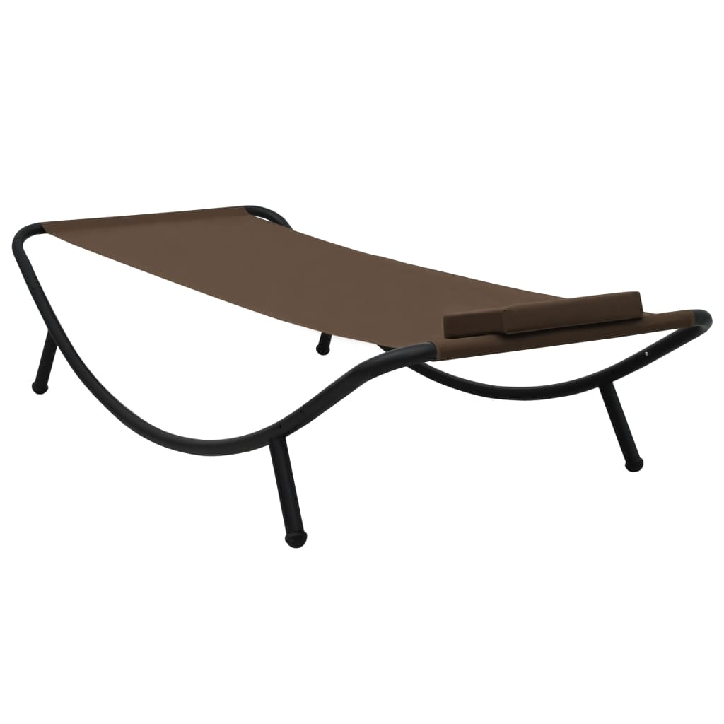 Tuinbed 200x90 cm staal bruin