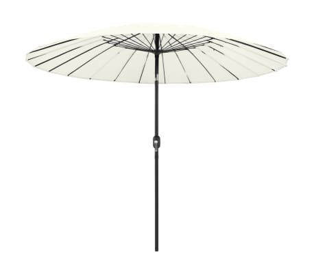 vidaXL Parasol met aluminium paal 270 cm zandwit