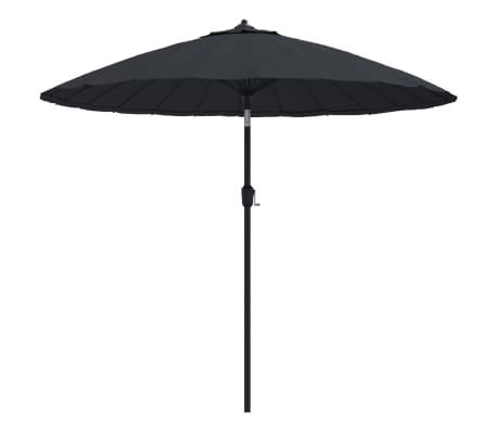 vidaXL Parasol met aluminium paal 270 cm zwart