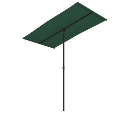vidaXL Parasol met aluminium paal 180x130 cm groen