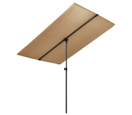 vidaXL Parasol met aluminium paal 180x130 cm taupe