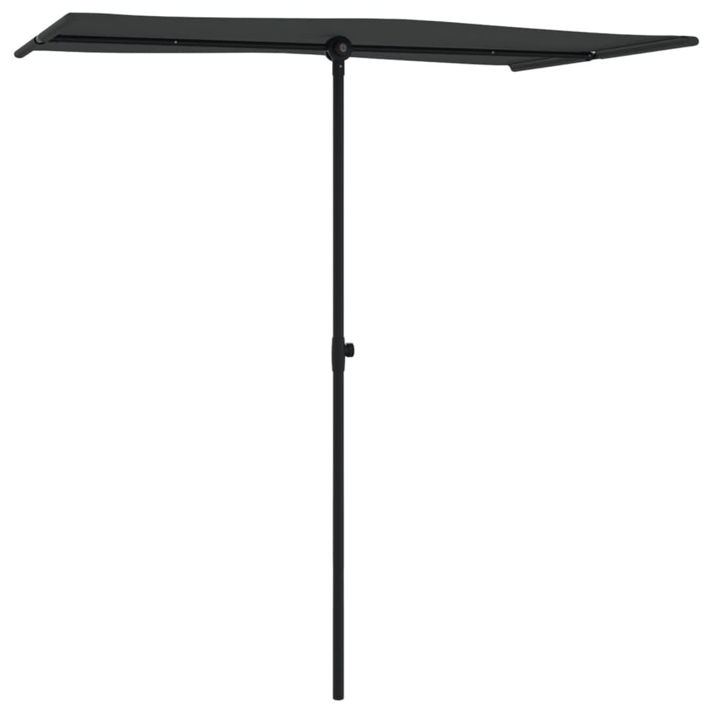vidaXL Parasol met aluminium paal 180x130 cm zwart