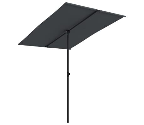 vidaXL Parasol met aluminium paal 2x1,5 m zwart