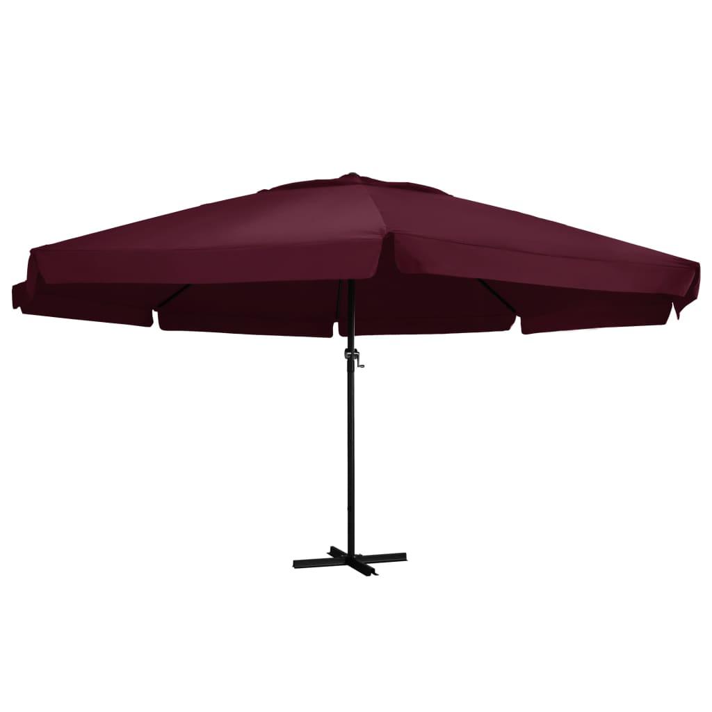 vidaXL parasol med aluminiumsstang 600 cm bordeaux