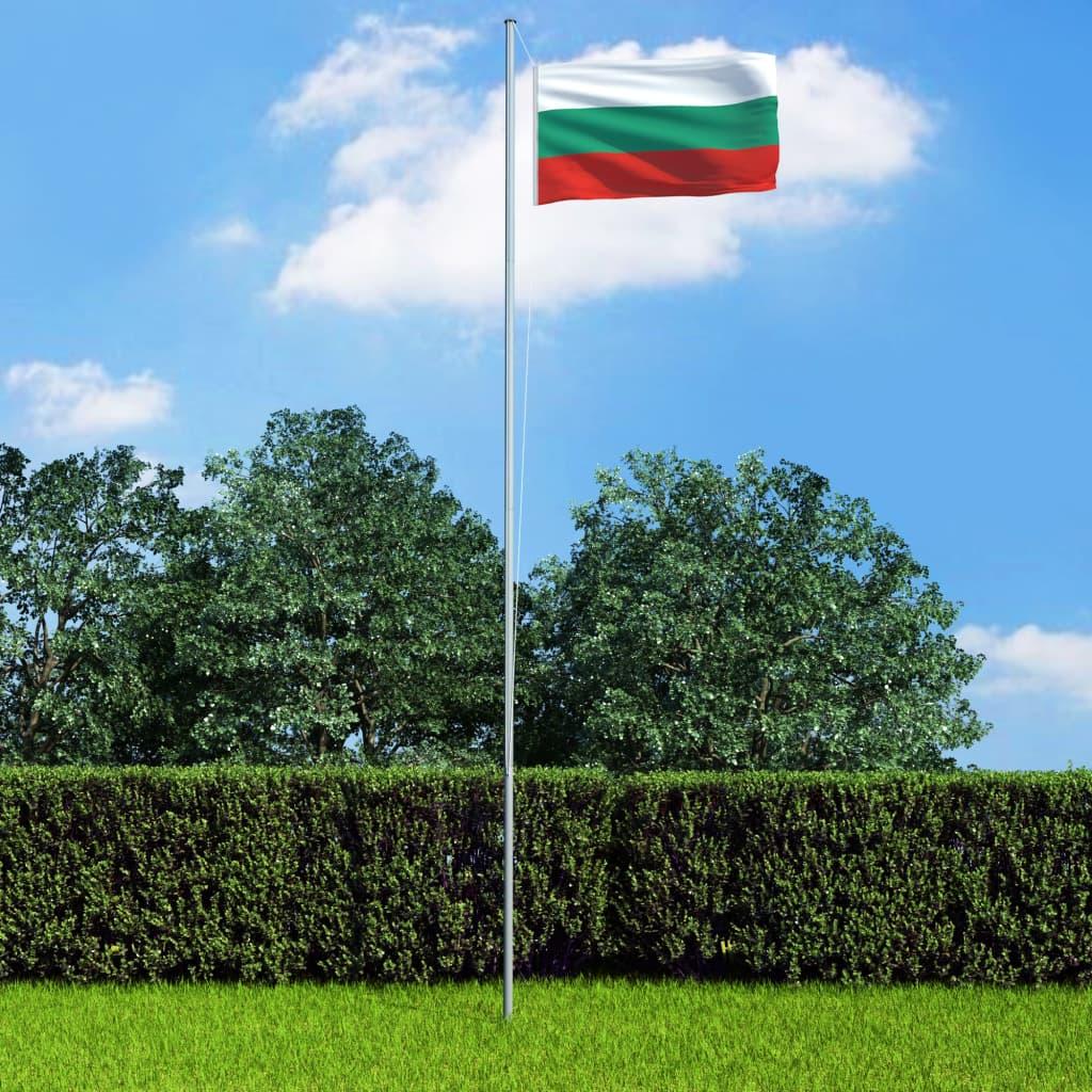 vidaXL Bulharská vlajka 90 x 180 cm