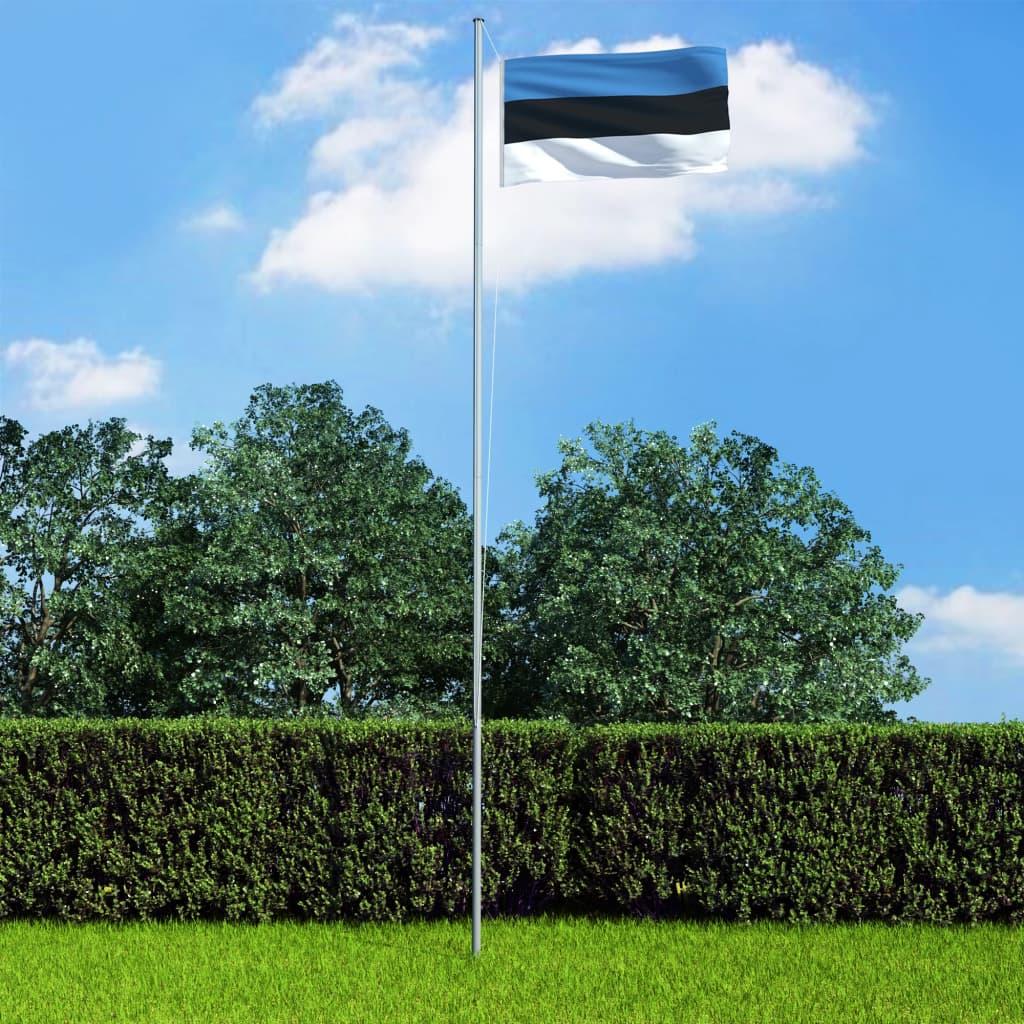 vidaXL Estonská vlajka 90 x 150 cm