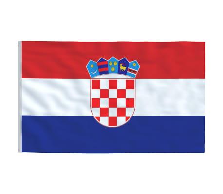 vidaXL Steag Croația, 90 x 150 cm