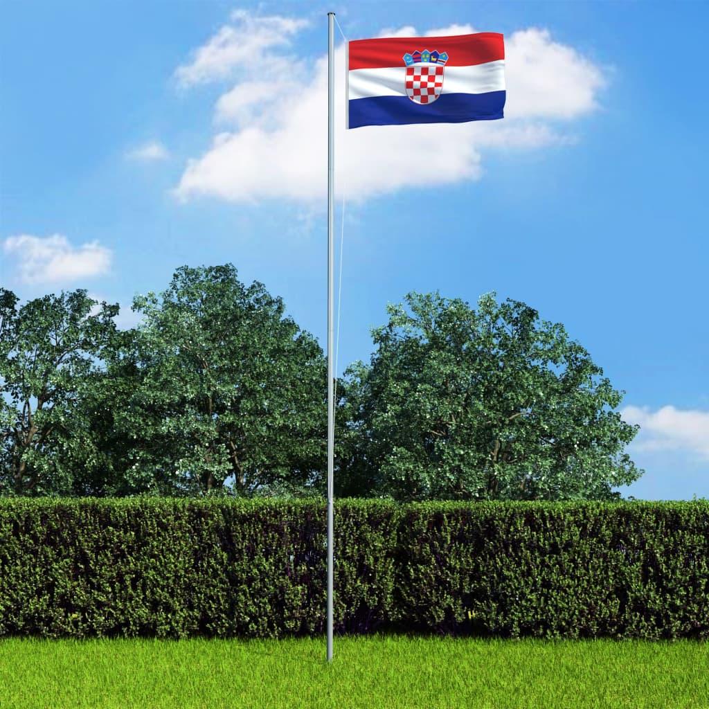 vidaXL Chorvatská vlajka 90 x 150 cm