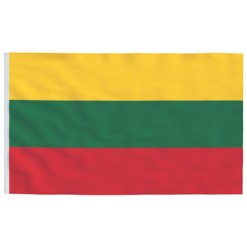 vidaXL Litevská vlajka 90 x 150 cm