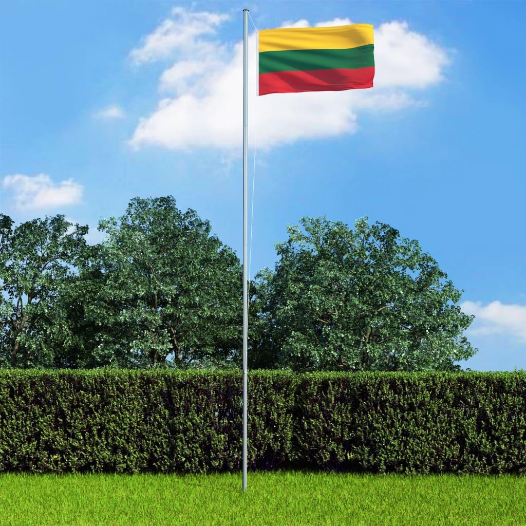 vidaXL Steag Lituania, 90 x 150 cm poza 2021 vidaXL