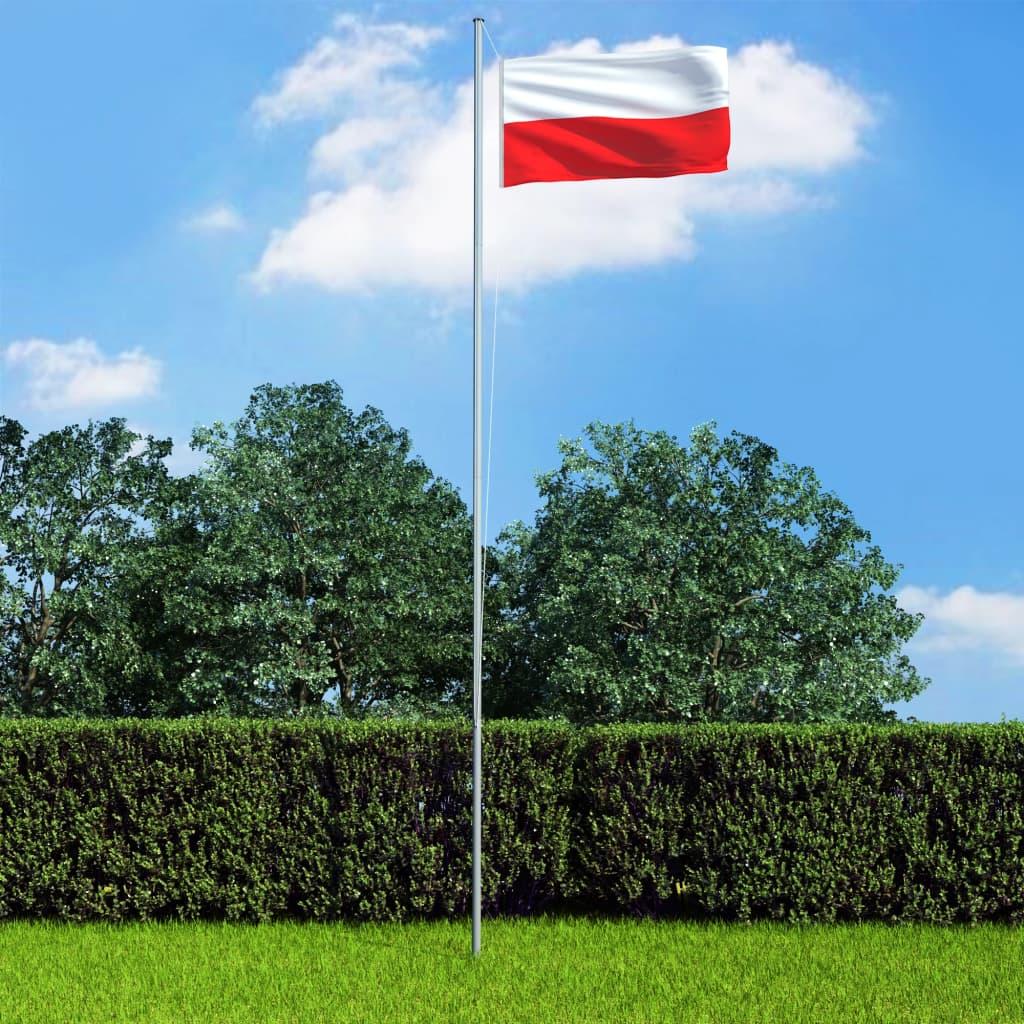 vidaXL Polská vlajka 90 x 150 cm
