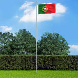vidaXL Vlag Portugal 90x150 cm