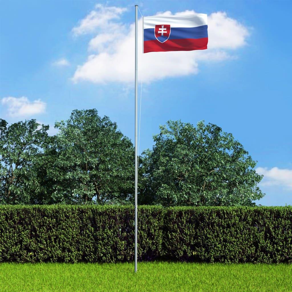vidaXL Slovenská vlajka 90 x 150 cm