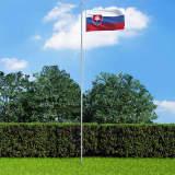 vidaXL Slovākijas karogs, 90x150 cm