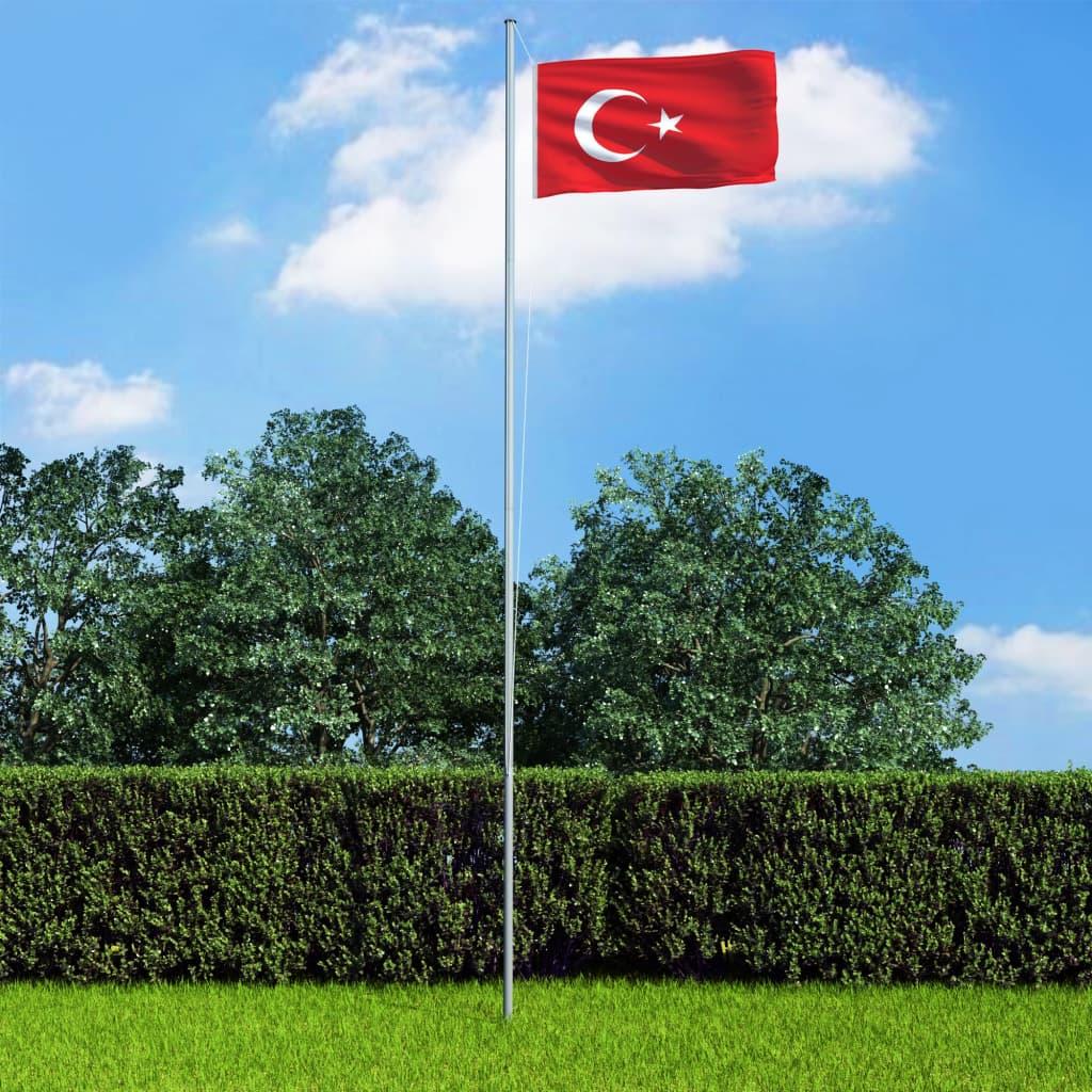 vidaXL Turecká vlajka 90 x 150 cm
