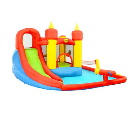 Happy Hop Château gonflable avec toboggan et piscine 410x385x220cm PVC[2/7]