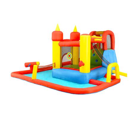 Happy Hop Château gonflable avec toboggan et piscine 410x385x220cm PVC[5/7]