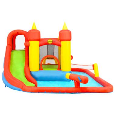 Happy Hop Château gonflable avec toboggan et piscine 410x385x220cm PVC[3/7]