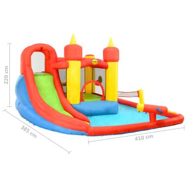 Happy Hop Château gonflable avec toboggan et piscine 410x385x220cm PVC[7/7]