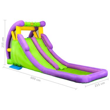 Happy Hop Toboggan à eau gonflable avec pataugeoire 600x215x255 cm PVC[10/10]