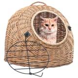 vidaXL Cat Transporter 45x35x35 cm Natural Willow