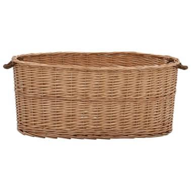 vidaXL Houtmand met handvatten 78x54x34 cm natuurlijk wilgenhout[2/7]